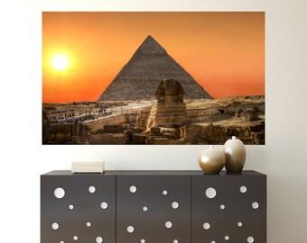Pyramids at Giza Wall Decals / Egyptian Wall Decals of Pyramids / Egyptian Decor- TOUWD10031