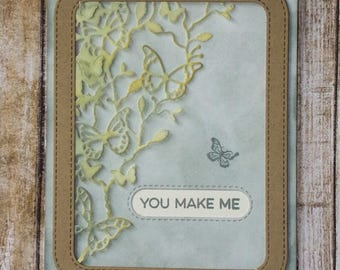 Happy card, cards with butterflies, any occasion cards, love you cards, general greeting cards,