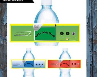Pokemon, Pokemon Birthday, Water Bottle Labels - Birthday Water Bottle Label -  Water Bottle - Pokemon Party - Pokemon Birthday Decor