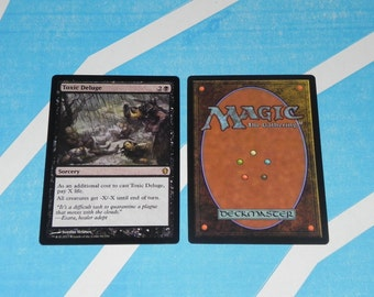 Toxic Deluge - Mtg HQ Magic Proxy Mimic Card excellent edh casual play Placeholder