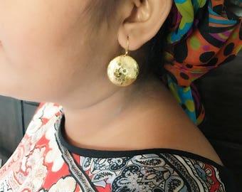Fulani coin earring