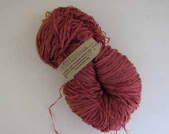 HABU Textiles A60 100% Linen Paper Yarn Color 113 BRICK red Viscose 4mm 280 yds