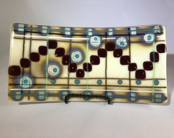 Decorative Fused Glass Tray - ONE-OF-A-KIND