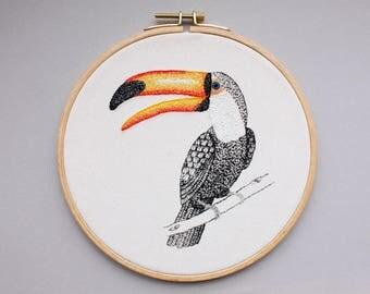 Bird image - Toucan in the hoop
