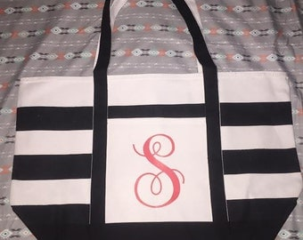 Personalized Large Canvas Tote