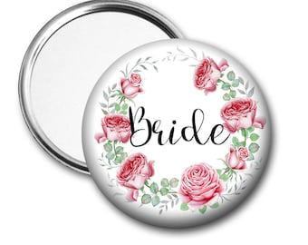 Blooms Bride 58 mm 2.5 inch Pocket Mirror