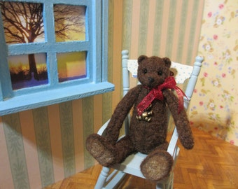 SALE 40% Brandy - OOAK, artist bear, miniature bear, vintage bear, dollhouse bear, tiny bear, art bear, teddy bear, Blythe