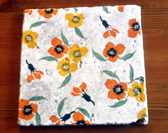 Emma Bridgewater Style Yellow Wallflower Platter/Tablemat