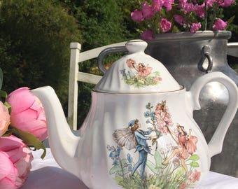 Ceracraft Flower Fairies vintage teapot