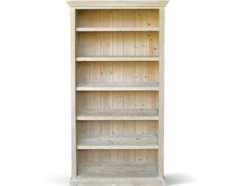 Bookcase, Bookshelves, Display Cabinet, Farmhouse, Reclaimed Wood, Handmade, Rustic