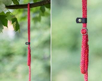 Slip Lead - Rope leash - Coral