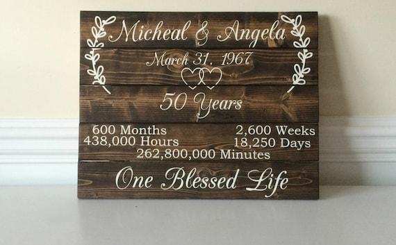 50 year wedding anniversary presents
