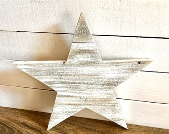 Rustic star-whitewashed