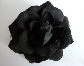 black rose Scrunchy clothes pin Button Flower accessory flower hairpair wedding hairclip flowers Goth hairclip hair decoration flower