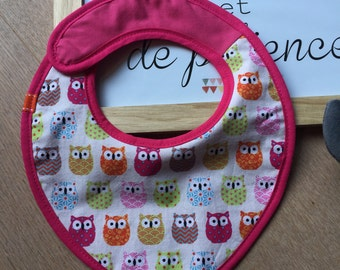CUSTOMIZABLE bib, pink cool patterns.