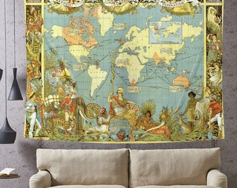 world map decor guelph map maps as art wall art decor map tapestry vintage world map