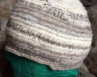 Nalbinded Hat hand spun Shetland 100% wool Nalbinded Nalbinding Naalbinded Viking Anglo Saxon Medieval Reenactment, Living History, SCA