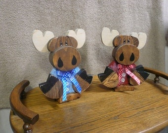 Hand crafted wood moose, Moose Decor, Cabin Decor, Rustic Decor, Re-purposed wood, Re-claimed wood