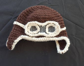 Toddler Aviator Crochet Beanie