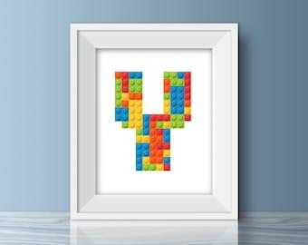 Lego Wall Decor lego letters | etsy