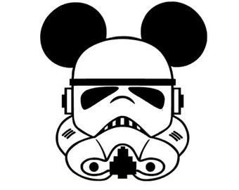 STORM TROOPER MICKEY; Quality Vinyl Decal, Disney Decal, Disney Yeti Decal, Disney Car Decal, Gifts for Disney addicts, Fast Processing!!