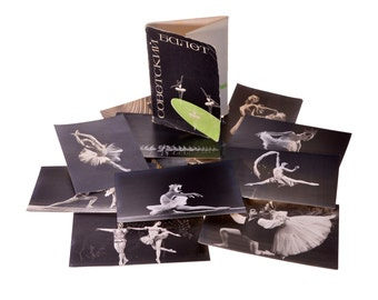 1 Set Quantity 12 Vintage Soviet Postal Photocards Set Collection Memorabilia Soviet Ballet 1965