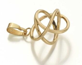 18 ct golden Akaija, Energy necklace, Sacred geometry, solid gold, Yoga, Jewelry, Good luck charm, Energy pendant,  Akaija, Talisman