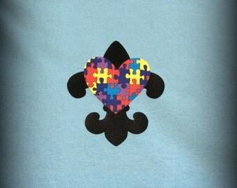 Custom Autism Fleur de lis t-shirt