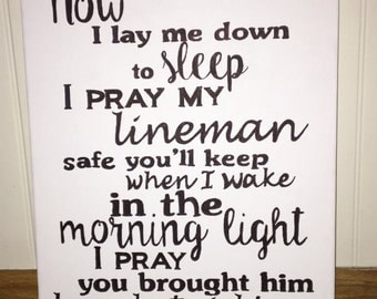 Lineman's Prayer