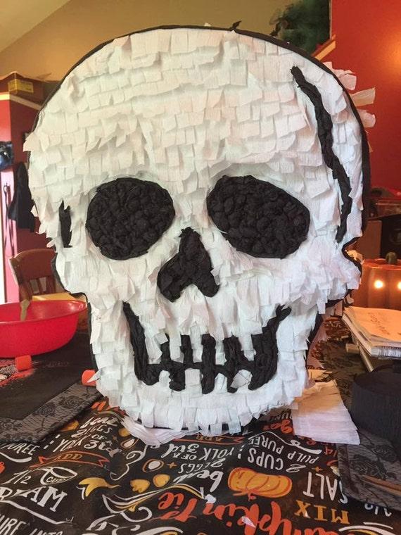 Pinata, Handmade Halloween Pinata, Skull Pinata, Crafted By Hand, Party Supplies, Halloween Party Supplies, Birthday Party Pinata, Birthday