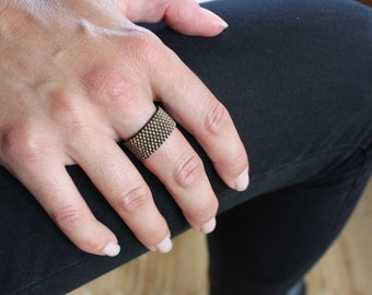 Metallic Brown Pearl ring