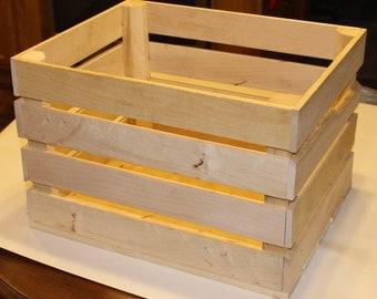 Natural Wood Vegetable Crate, Wood Farm Crate