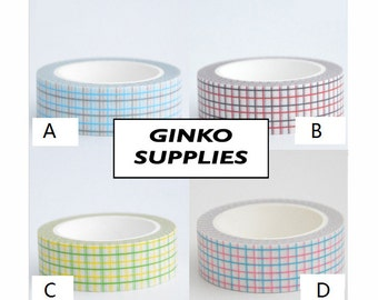 Grid Washi Deco Tape - 15mm X 10 metres
