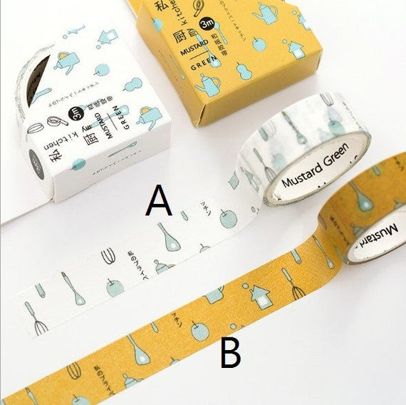 Kitchen Washi Tape Japanese Washi Tape Deco Tape 15mm X