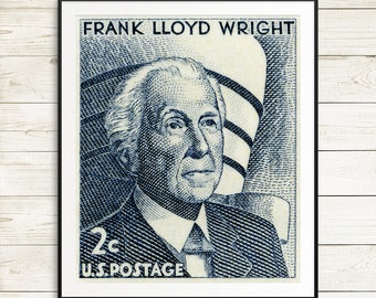 Frank Lloyd Wright posters, Wright Fallingwater, unique architect gift idea, cool gifts for architects, classic American architecture prints
