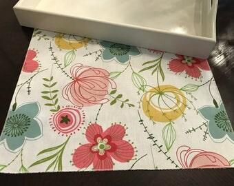 Spring Table Runner | Flowers Table Runner | Floral Table Runner | Table Runner | Summer Table Runner |