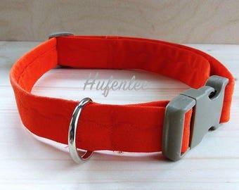 Dog Collar, Fabric Dog Collar, Orange Dog Collar, For the Dogs, Adjustable Dog Collar, Dog Accessories