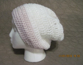white and pink slouchy