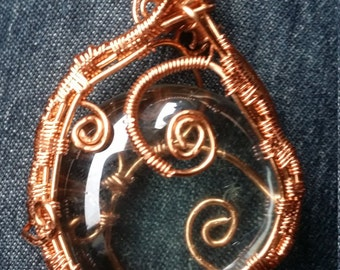 Copper wrapped glass