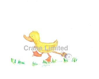 Printable Nursery Art: Duck playing croquet