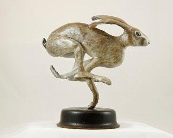 Running Jack Rabbit Sculpture