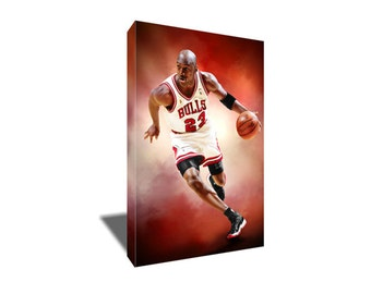 FREE SHIPPING Michael Jordan GOAT Canvas Art