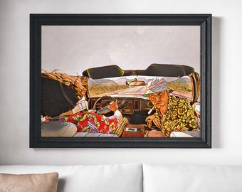 Fear & Loathing in Las Vegas Movie Poster Art Canvas Print Wall Decor Canvas Cinema Poster Print Designer Art Painting Wall Art Home Decor