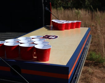 Truck-bed beer pong table