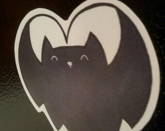Heart bat Magnet