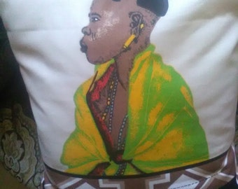 African Faces scatter cushions