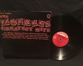 FREE SHIPPING The Monkees Greatest Hits Vinyl Record