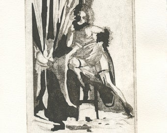 "Original etching ""Courtisane"""