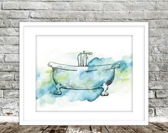 Vintage Bathtub Art