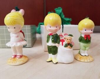 Joan Walsh Anglund Figurine Ornaments circa 1976 and 1978 - Set of Three